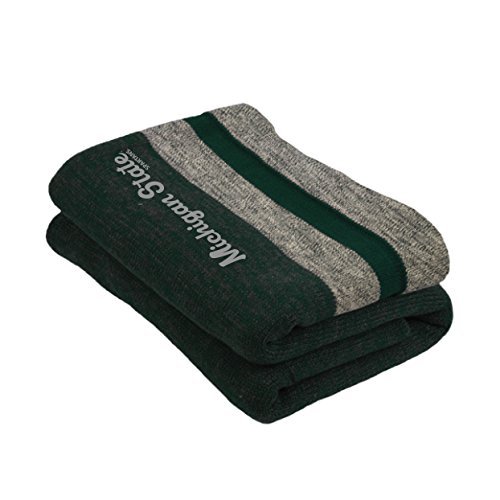 NCAA Michigan State Spartans Unisex Work Sock Blanketwork Sock Blanket, Forest Green Mix, One Size ()