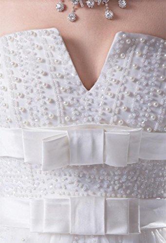 Le Bustier De Femmes Dzdress Une Ligne Longue Robes De Mariée Perlage Robe De Mariée Ivoire