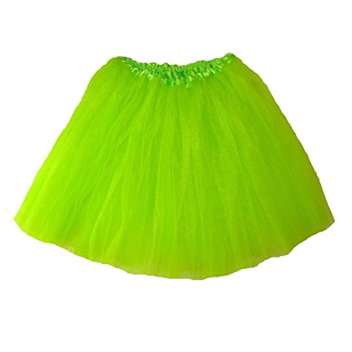Adult Large Ballet Tutu Waist 24-46 Length 16-17 by Southern Wrag Company (Lime)