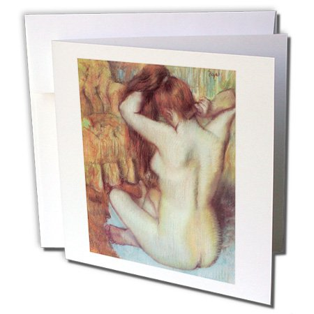 Nude Woman Combing Her Hair by Edgar Degas - Greeting Card, 6 x 6 inches, single (gc_126996_5)