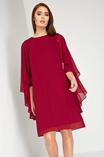Vestido Roman Básico Noche 3 4 para mujer Originals Rosso manga aqq54xvw6