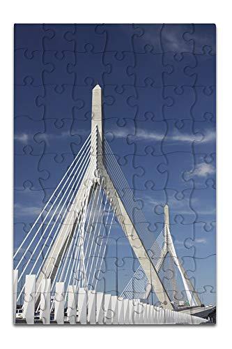 Zakim Bridge Boston, Massachusetts Photography A-91116 (8x12 Premium Acrylic Puzzle, 63 Pieces)