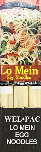 Welpac Lo Mein Egg Noodles, 10 Ounce (Pack of 12) (Egg White Pasta)