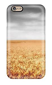 AkmnFtv12422aSYgD Tpu Case Skin Protector For Iphone 6 Field Earth Clouds Nature Other With Nice Appearance