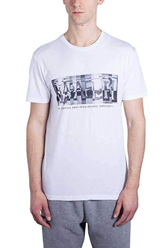 Bianco unica T uomo Taglia Napapijri shirt Bianco da TdgqndI01