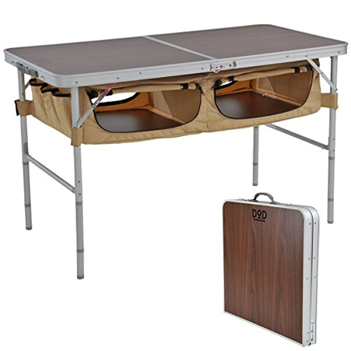 [해외] DODD O D storage 아웃도어 테이블 대용량 수납 텐트 사이트가 깨끗하게 TB5-110 / TB5-110T