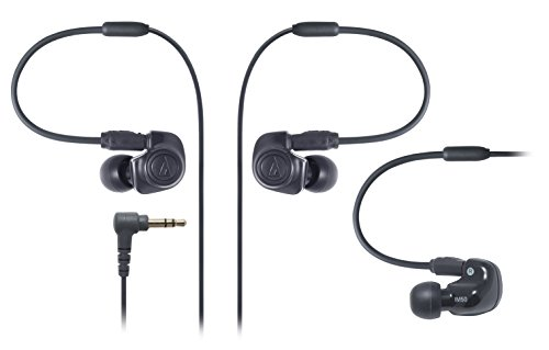 Audio-Technica ATH-IM50 Dual symphonic-driver In-ear Monitor headphones Black (Japan Import) -