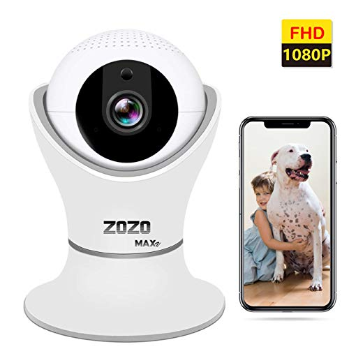 ZOZO MAXV WiFi Camera 3D Panorama FHD 2MP 1080P Home Security Surveillance with Night Vision, Two-Way Audio, IP Camera Indoor for pet Monitor, Baby, Dog, Nanny, Cat, Wireless Cameras 360 Glass Lens (Install Latest Internet Explorer For Windows 7)