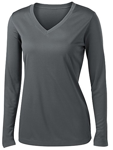 Ladies Long Sleeve Moisture Wicking Athletic Shirts Sizes XS-4XL IRNGRY-3XL