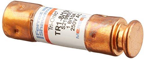Mersen TR-R Tri-Onic Time-Delay/Class RK5 Fuse, 250VAC/250VDC, 200kA AC/20kA DC, 1-8/10 Ampere, 9/16