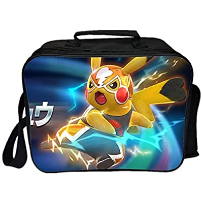 GD-Clothes Detective Pikachu Lunch Boxes-kids Insulated Lunch Bag Waterproof Moisture Resistant Reusable Lunchbox with Multiple Patterns: Kitchen & Dining