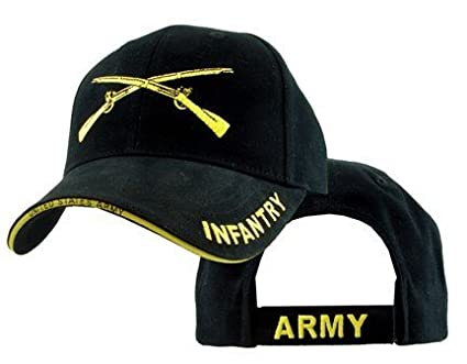 cdadad0c0cf Amazon.com  US Army Infantry Crossed Rifles Embroidered Ball Cap ...