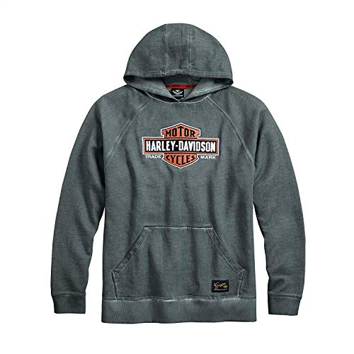 Harley-Davidson Official Men's Genuine Classics Pullover Hoodie, Grey (XX-Large)