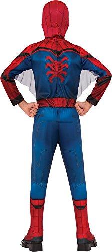 Rubies Marvel – I-630730S – Disfraz clásico de Spiderman Homecoming con cubrebotas