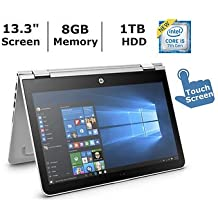 HP 13.3 HD Touchscreen Convertible 2 in 1 Laptop / Tablet, Intel Core i5-7200U, 8GB DDR4 Memory, 1TB Hard Drive, Windows 10
