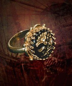 Pirates of the Caribbean Jack Sparrow Button Ring Replica