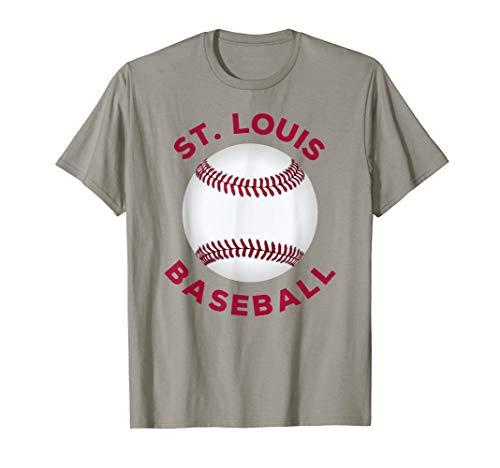 Classic St. Louis Missouri Baseball Fan Retro T-Shirt