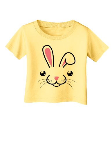 - TOOLOUD Cute Bunny Face Easter Infant Baby T-Shirt - Daffodil Yellow - 6Months