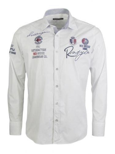 REDBRIDGE - Langarm Freizeithemd - weiß Grösse XXL