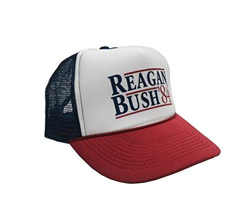 P&B Reagan Bush '84 Campaign Adjustable Unisex Adult-one Size Hat Cap (Single)