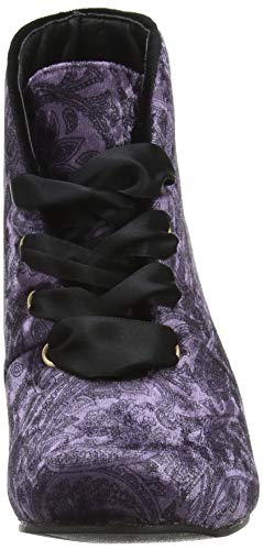 Para Ankle Joe A Botines Browns Boots purple Mujer Alluring Morado Velvet AnYwtq