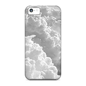 New MeUOv5376vKvfD Thick Clouds Tpu Cover Case For Iphone 5c