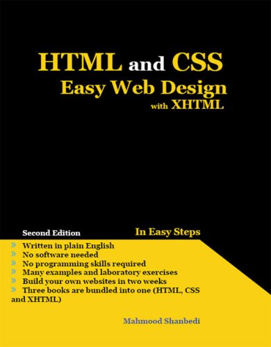 Download HTML and CSS Easy Web Design with XHTML pdf