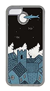 iPhone 5c Cases - Wholesale Summer Cool TPU Transparent Cases Personalized Design The Moon In The Night
