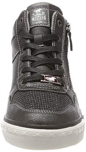 Mustang Top 259 Baskets Hautes Femme graphit Sneaker High Gris RUqR7