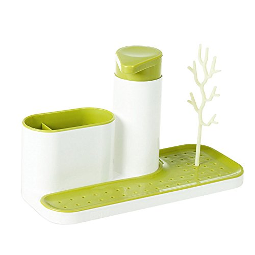 SODIAL Kitchen Draining Rack Detergent Box Sponge Holder Dis