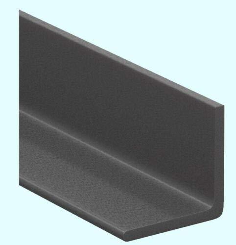 1 Pc of Fiberglass Angle Stock 1/4'' Thick x 2'' Legs x 5 Ft Long 90° Dark Gray 60'' Length by STEELSALESCO