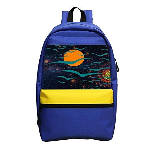 Revolving Nebula Schoolbag Boys And Girls 1-6 Year Old Children Backpack Blue