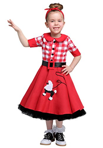 Poodle Skirt Costume Toddler (50s Darling Toddler Costume 2T)