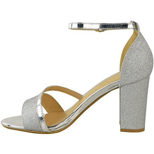 Talons Femme Fashion à Paillettes Sandales argentées Thirsty métallisées Paillettes Moyens q4aRS
