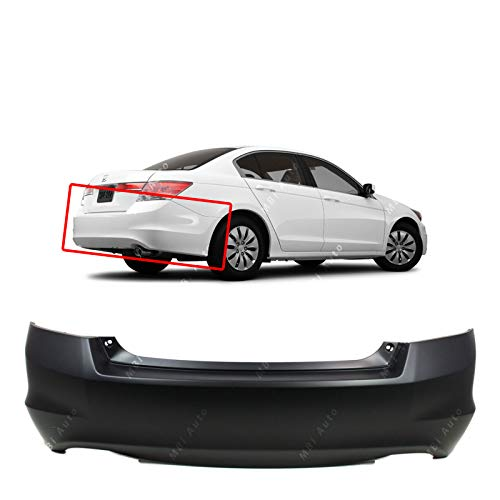 MBI AUTO - Primered, Rear Bumper Cover Replacement for 2008-2012 Honda Accord Sedan 4 Door 08-12, HO1100245