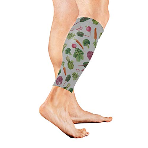YSWPNA Garden Carrots Cabbage Other Vegetables Calf Compression Sleeve Leg Compression Socks for Shin Splint Calf Pain Relief Men Women and Runners Improves Circulation Recovery