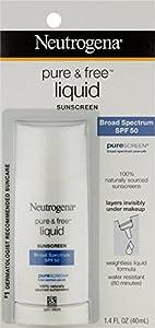 Neutrogena Pure & Free Liquid Daily Sunscreen SPF 50 1.40 oz