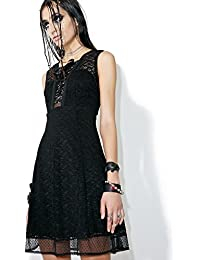 Tripp Gothic Sweet Jane Lace Prom Punk Victorian Sexy Black Dress