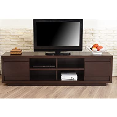 ioHOMES Kirry Multi-Storage TV Stand, Walnut