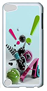 iPod Touch 5 Cases & Covers - 3D Abstract Art Custom PC Soft Case Cover Protector for iPod Touch 5 - White