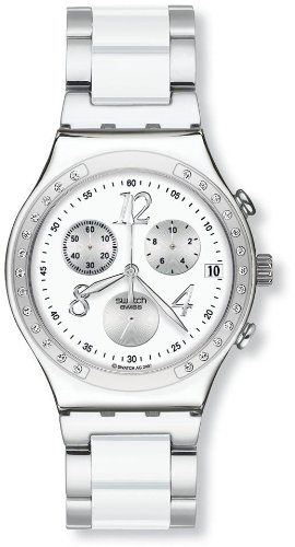 Swatch Dreamwhite Chronograph Unisex Watch - - Swatch Online Buy
