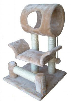 GoPetClub 28″ Cat Tree Condo House Toy Pet Scratcher Post Furniture F13, My Pet Supplies