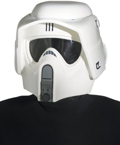 Rubie's Men's Star Wars Collectors Edition Scout Trooper Helmet, White, One -
