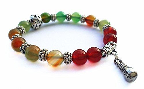 Feng Shui Handmade Natural Agate Crystal Beads With Money Bag Bracelet (Bead Amulet Bag)