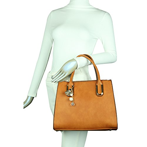 Bag Tote Brown Leather Faux Womens Shoulder Large Bag Designed Craze London qwnP0H88