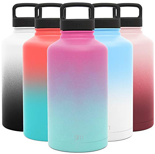 Simple Modern Water Bottle Reusable Summit Wide Mouth Stainless Steel Thermos Flask, 64oz Handle Lid, Ombre: Sorbet