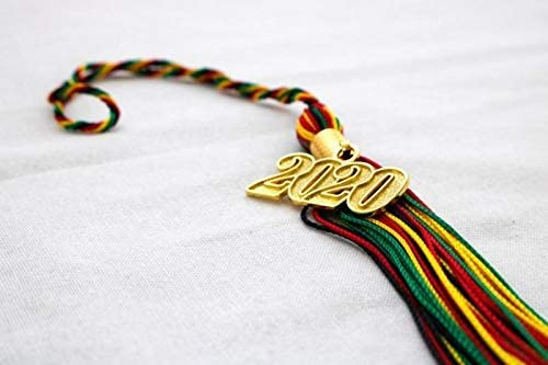Class of 2020 Kente Stole with Matching Kente Colors Tassel