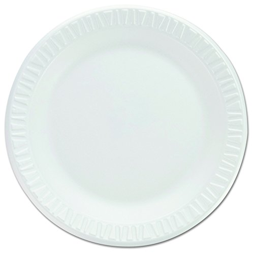 Concorde Non Laminated Foam (Dart 7PWCR Non-Laminated Foam Dinnerware, Plates, 7