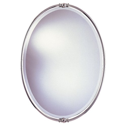 Murray Feiss MR1044PN New London Decorative Mirror, Polished Nickel from Murray Feiss