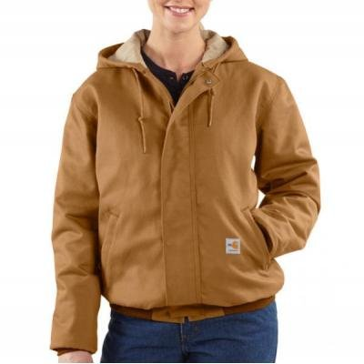 Carhartt Women's Quilted Flannel Lined Sandstone Active Jacket,Carhartt Brown (Closeout),Small